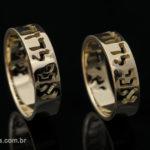 Par de Alianças Hebraicas Vazadas - R$ 2.600,00
